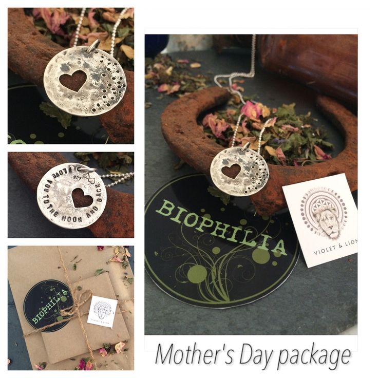 """Mother's Day package, $35 plus postage RRP $50 get in on this deal while stocks last Violet and lion has teamed up with sb naturopathy offering a pack with the HRtea biophillia organic tea blends and a recycled sterling silver moon pendant """"I love you to the moon and back"""" stamped on the back, the pendant comes with a sterling silver ball chain You are puchasing a 30g pack of BIOPHILLIA HRtea a herbal tea blend of Black cohosh, dong quai, licorice, withania, pe..."""