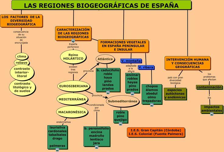 Regiones biogeográficas de España.