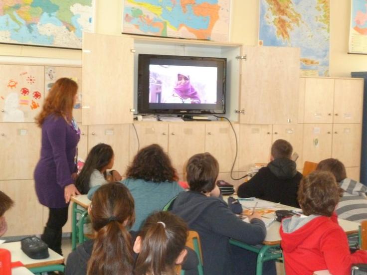 """3ο Δημοτικό Σχολείο Κορυδαλλού- Τα παιδιά στο πλαίσιο της Παγκόσμιας Εβδομάδας Δράσης για την Εκπαίδευση, παρακολουθούν την ταινία """"Φωνές της Αλλαγής"""""""