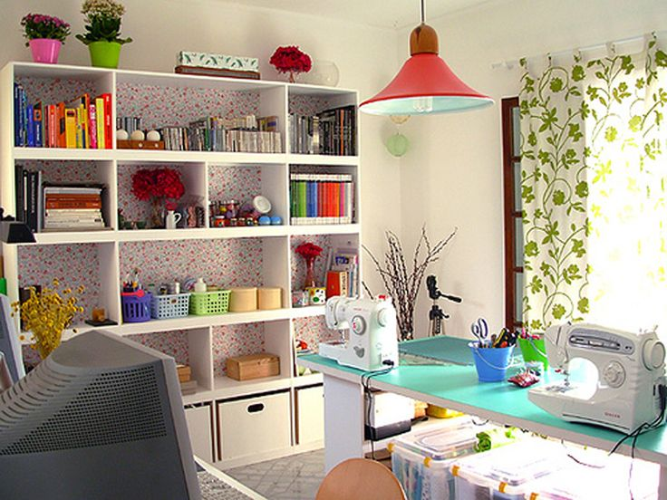 Best Sewing Room Design Ideas Part - 50: Sewing Room Design Ideas With Decor Color