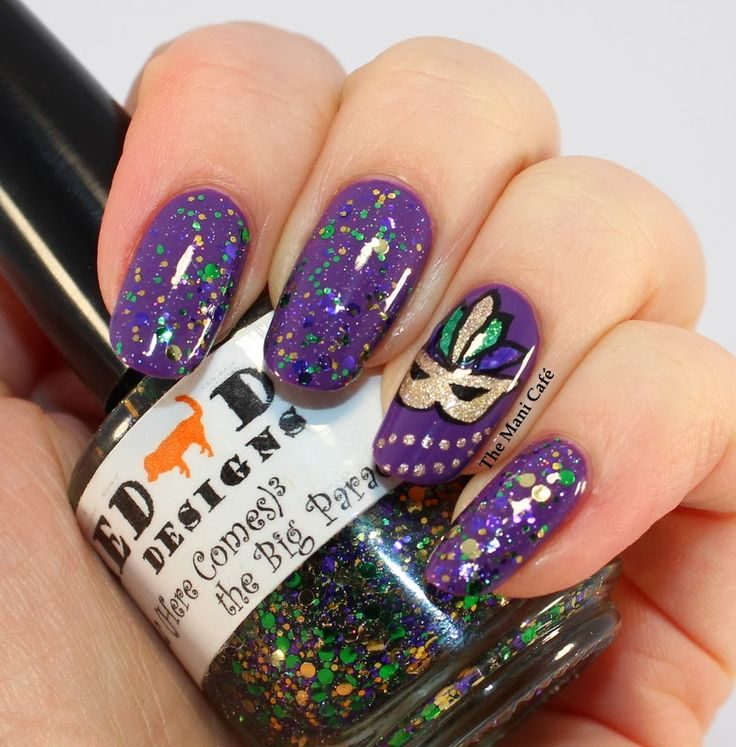 33 best Mardi Gras Nail Designs images on Pinterest | Mardi gras ...
