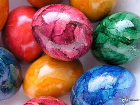 ТОП 1 Оригинальный способ покрасить яйца на Пасху  777  To paint eggs fo...