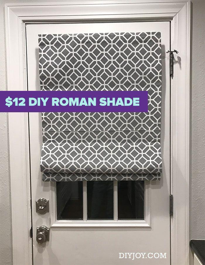DIY Roman Shades – Cheap Home Decor Ideas – No Sew Roman Shade Made From Mini Bl…