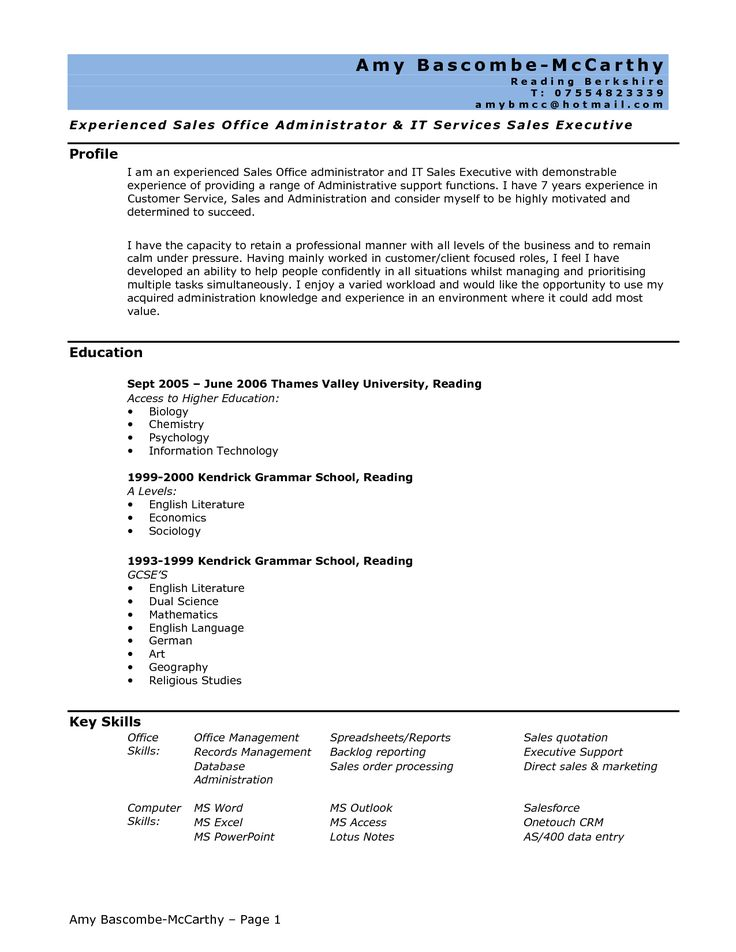 Written administrative assistant resume and cover letter. Description from sensmechanical.com. I searched for this on bing.com/images