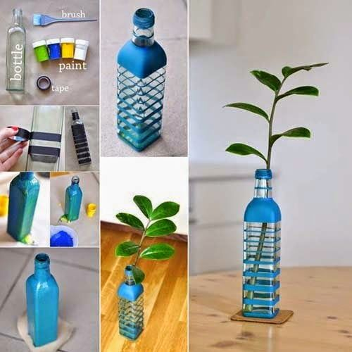 Amazing Low Cost Creative Idea For Home Decoration: Bottle Pot Made From Waste  Bottle @ Low