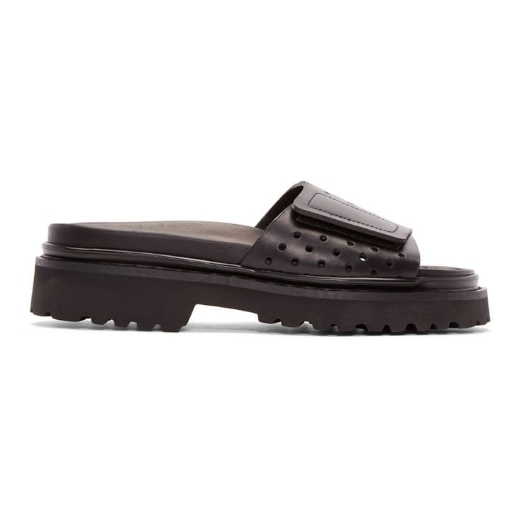 Calvin Klein Collection - Black Perforated Sandals