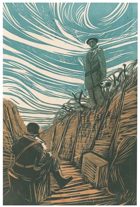 Parade's End, The Folio Society - linocut illustrations by James Albon