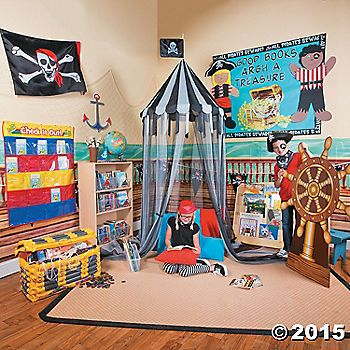 13 best pirate ideas images on pinterest for Space themed book corner