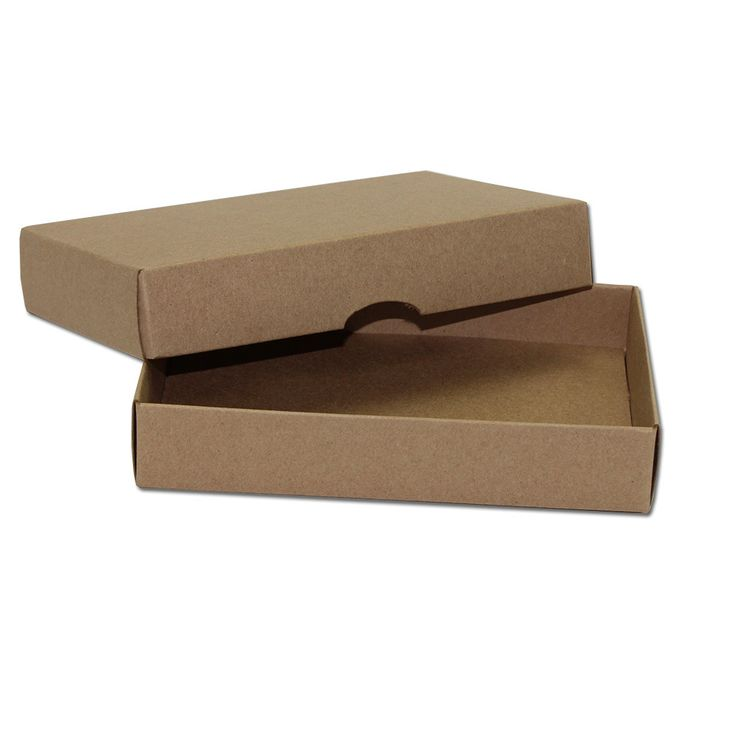 Braune Fotobox 9 x 13 x 2,5 cm, Kraftkarton, mit Deckel