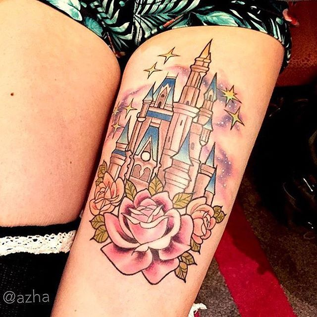 Cinderella Castle done by @azha on @larsongraham #inkeddisney