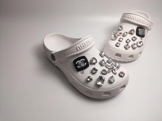 Croc Charms Set  7 Designer Croc Charm Jibbitz IncludedFree Same Day Shipping