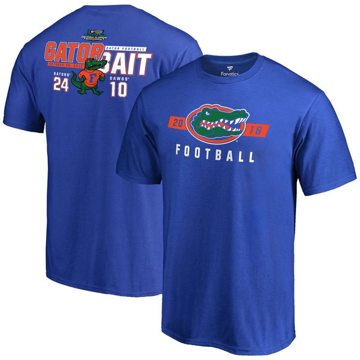 Florida Gators vs. Georgia Bulldogs 2016 Score T-Shirt - Royal