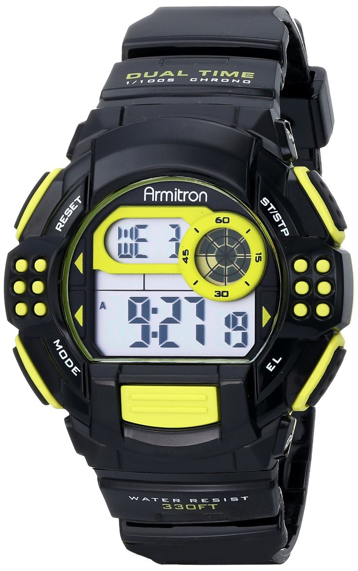 Armitron Sport Unisex 45/7044LGN Lime Green Accented