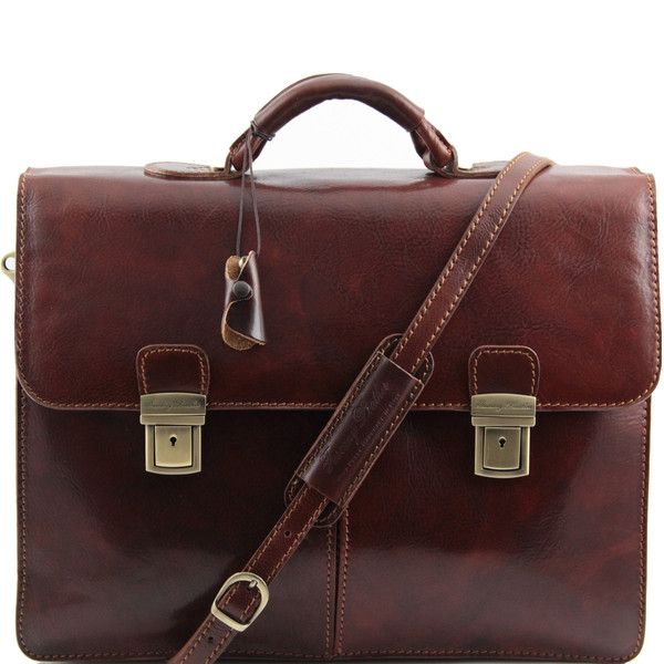 BOLGHERI - Leather briefcase 2 compartments
