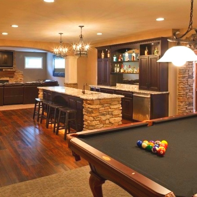 Home Design Basement Ideas: Awesome Chill Room
