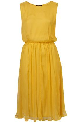 YELLOW MIDI DRESS    Price:$80.00  Colour:YELLOW  Item code:10A54YDYW  4.5 out of 5  2 reviews  Write a review  Yellow midi dress with elasticated waist and high neckline.     100% Viscose. Machine washable.