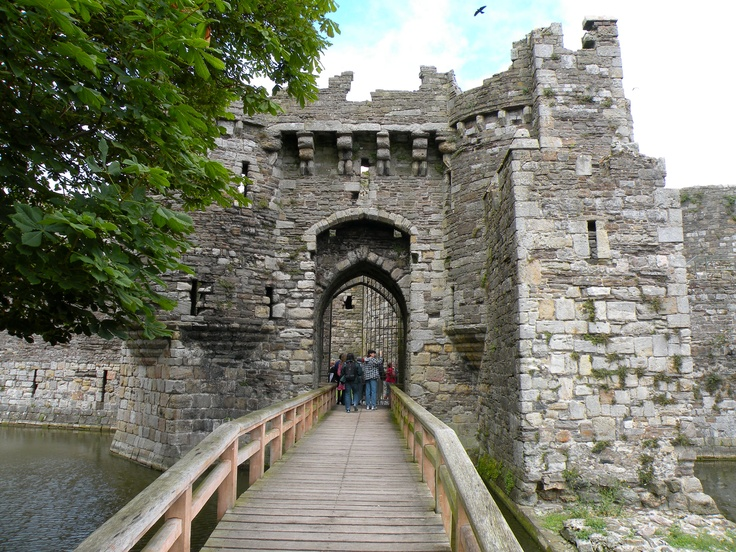 Enterance to the Beaumaris Castle on the Island of Anglesey, Wales