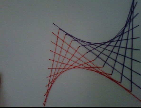 I sewed my math homework today...