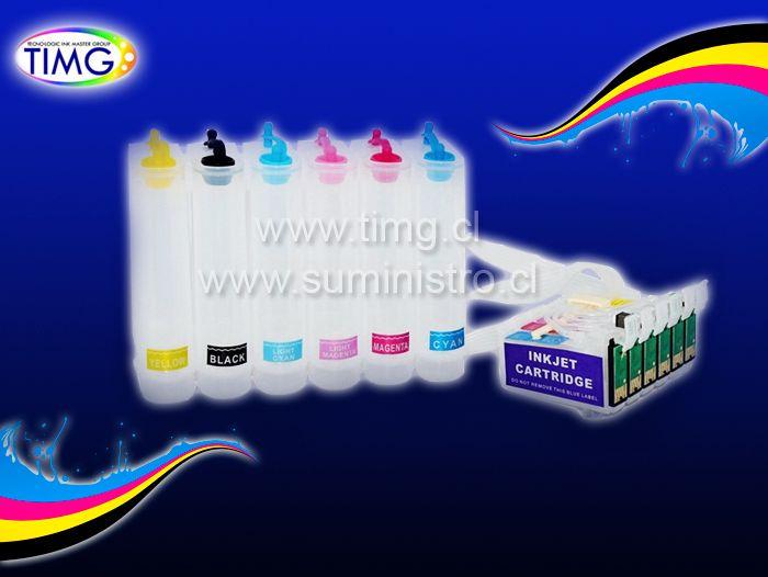 Oferta Ultimos Sistema continuo de tinta para impresoras T50 R290 RX590 R270 RX610 TX700 TX710W TX720WD R1410 R1430 - $ 4.990 con iva
