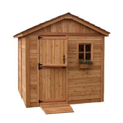 western red cedar gardener shed brownstans - Garden Sheds Home Depot