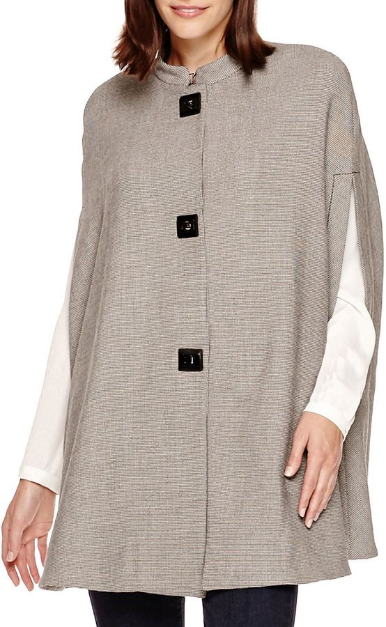 Mng By Mango MNG by Mango Sleeveless Houndstooth Cape