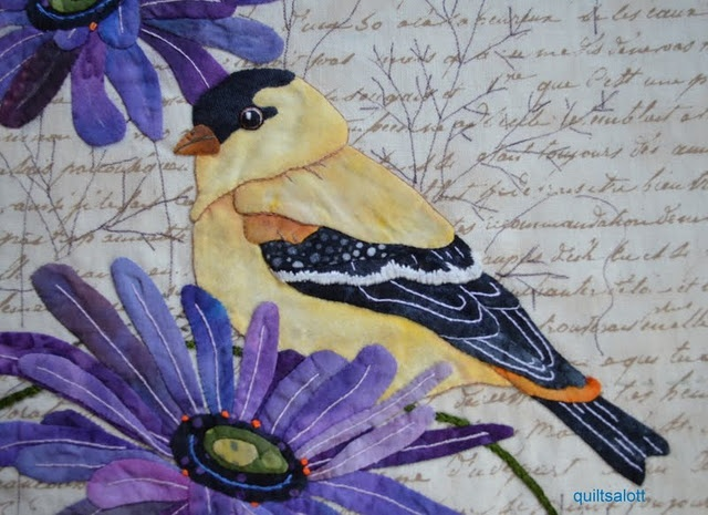 GoldfinchCrafts Sewing Embroidery, Appliqué Projects, Birds Quilt, Quilt Ideas, Applied Quilt, Art Quilt, Colors Pencil, Appliques Birds, Appliques Goldfinch