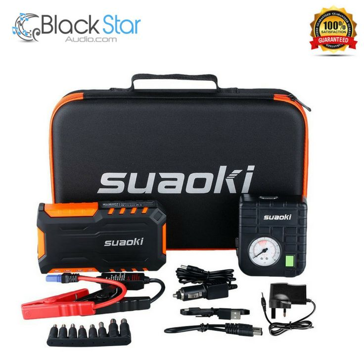 Suaoki Car Jump Starter Battery 600A 18000mAh with Air Compressor, Orange #Suaoki