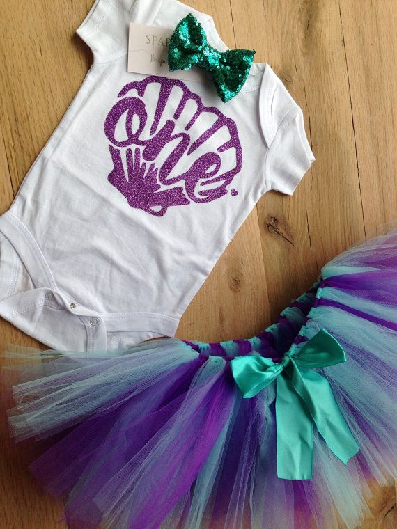 Mermaid First Birthday Outfit/Under the Sea Tutu by BespokedCo