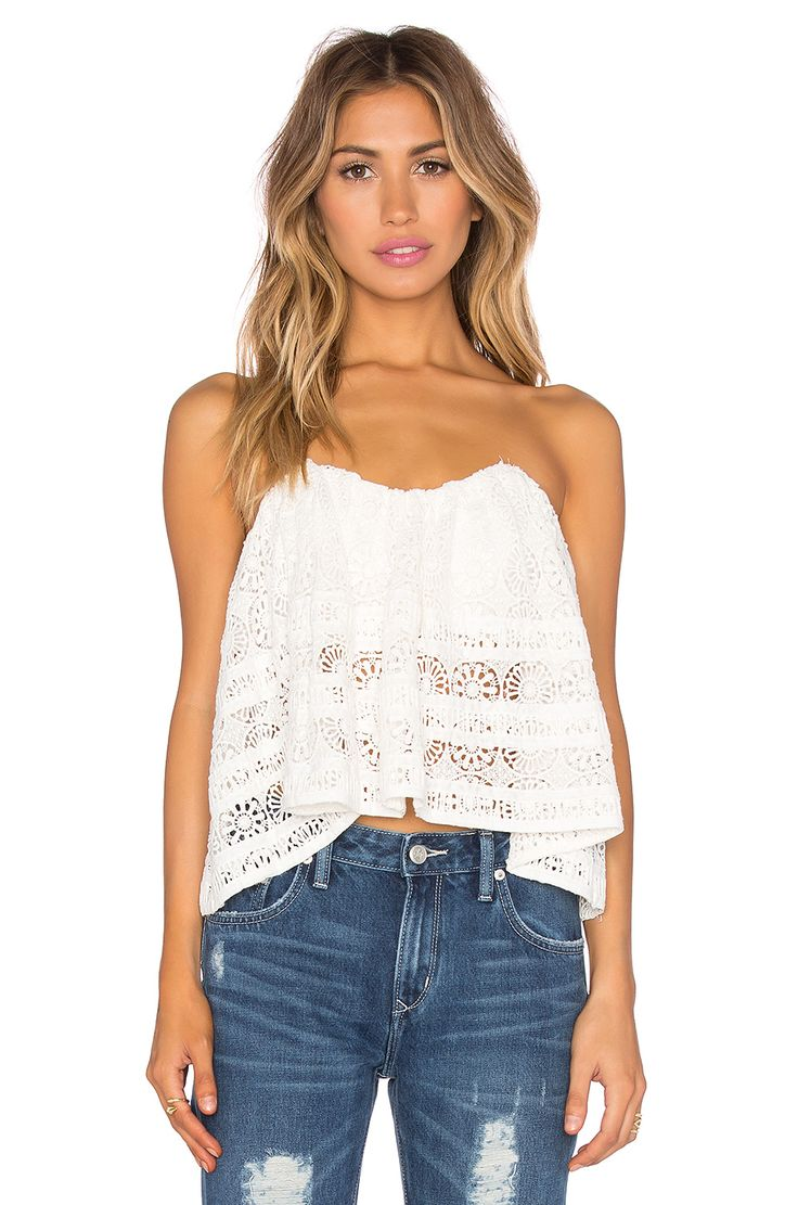 Free People Sydney Lace Tube Top in Ivory