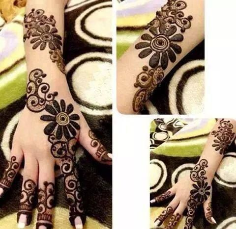 Unique modern Henna tattoo design https://www.facebook.com/nikhaarfashions