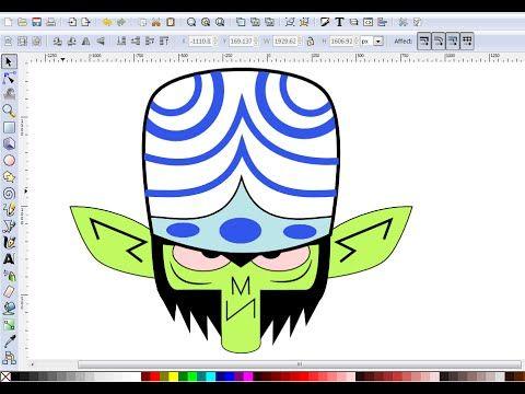 Inkscape Drawing Tutorial - How To Draw Mojo jojo From Powerpuff Girls - YouTube