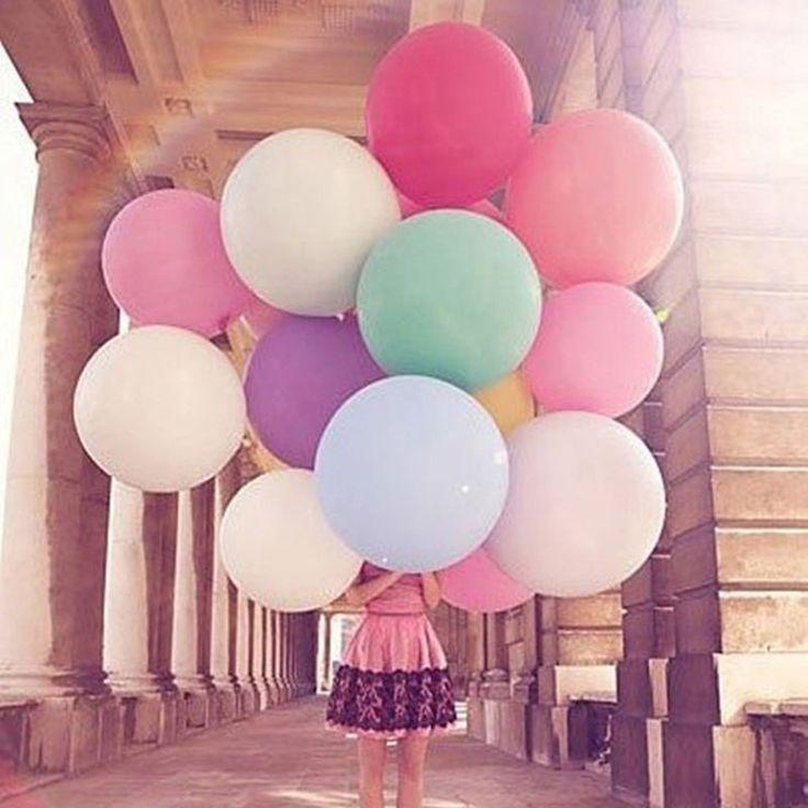 36 inch raksasa balon Colorful meledakkan Bola Balon Helium Inflable Lateks balon besar Untuk Ulang Tahun Dekorasi Pesta anak baloon