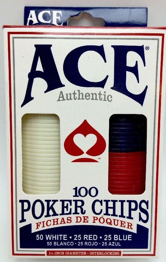 Ace Authentic 100 Poker Chips Set New #CartamundiAce