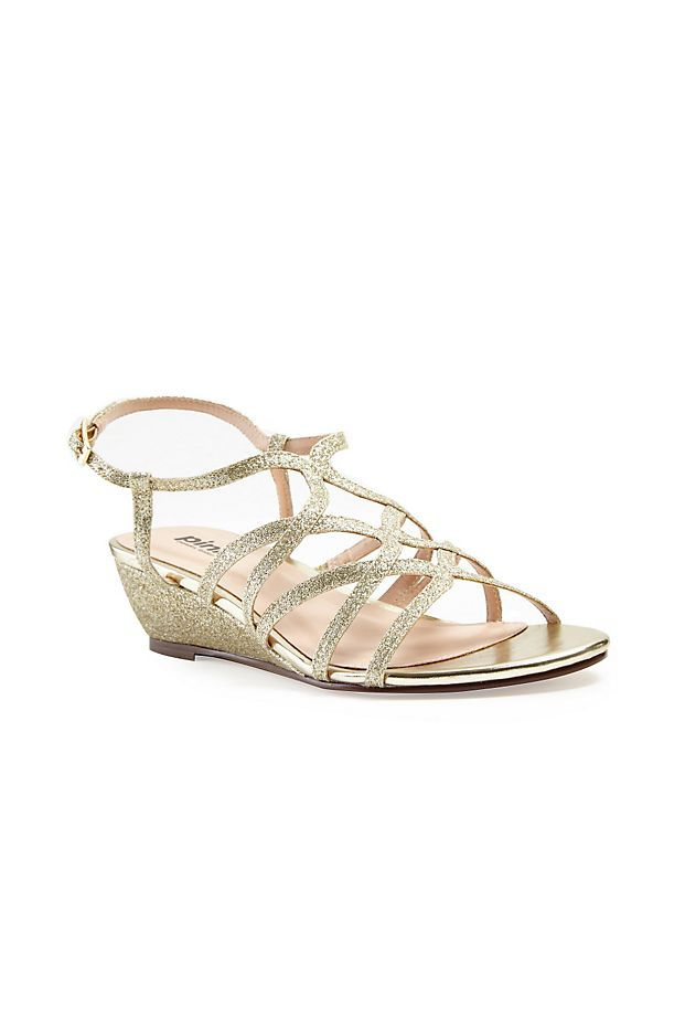 Opulent Crisscross Strappy Low Wedge Sandals Style P1606