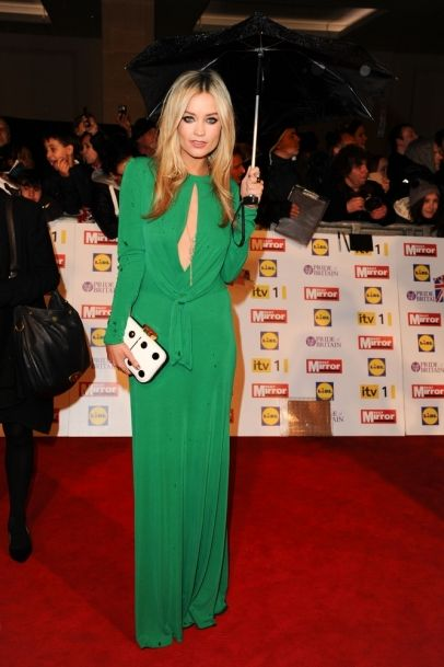 Laura Whitmore arriving for the 2012 Pride of Britain Awards, at the Grosvenor House Hotel, London.