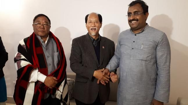 Nagaland: Neiphiu Rio BJP leaders stake claim to form govt submit 32 candidates list
