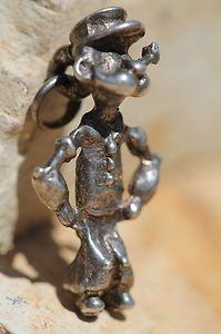Vintage Sterling Silver Popeye The Sailor Man Charm for Bracelet | eBay