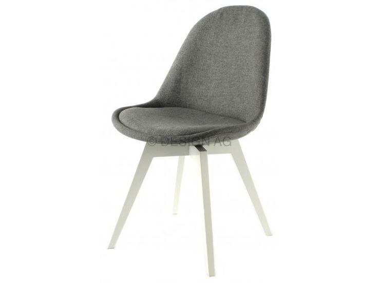 Krzesło Donna Bess szare nogi białe — Krzesła Tenzo — sfmeble.pl  #scandinavian  #style  #interior  #homedesign #furniture  #chair