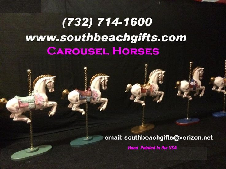 Carousel Horses For party decorations for the table or floor! Perfect for Carnival theme events, Circus or  Amusement park party! Great for Special events , Proms, Birthday parties for  Sweet 16, Bat Mitzvahs, kids, 1st birthday or baby showers. Call to order 732-714-1600 email us: joans.gifts@verizon.net