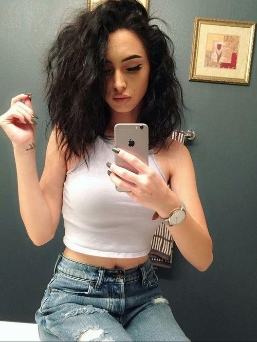 cabello oscuro y sensual lob tendecia