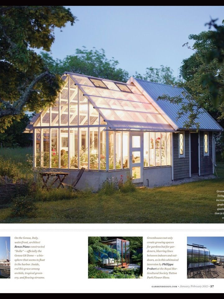 Greenhouse and shed combo - looks great with the lighting.