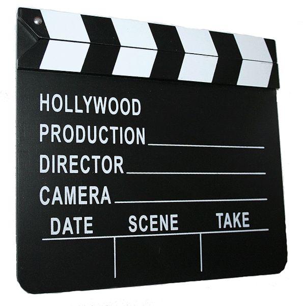 Hollywood Movie Film Director's Slateboard Clapper Clapperboard Prop