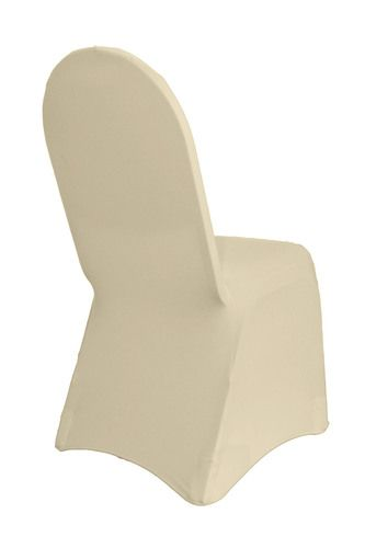 Durable and of premium quality, our spandex banquet chair cover in ivory is designed to fit any standard banquet chair with round top. Made from high quality four-way stretch spandex material, our ivory stretch spandex chair covers exemplify modern sophistication and luxurious elegance. For years now, we've been supplying these ivory stretch chair covers to chair cover rental companies, restaurants, wedding venue owners, hotel and catering business owners. These types of chair slipcovers…