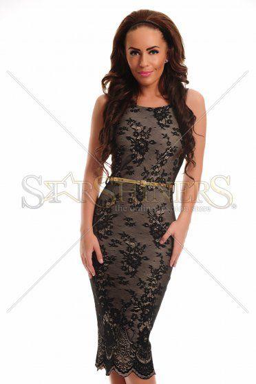 PrettyGirl Fusioned Black Dress
