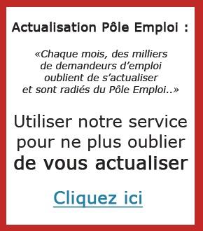 RAPPEL Actualisation Pole emploi