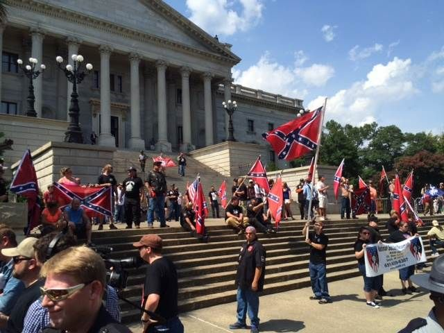 KKK, Black Panther Group Clash Over Confederate Flag Outside South Carolina Capitol