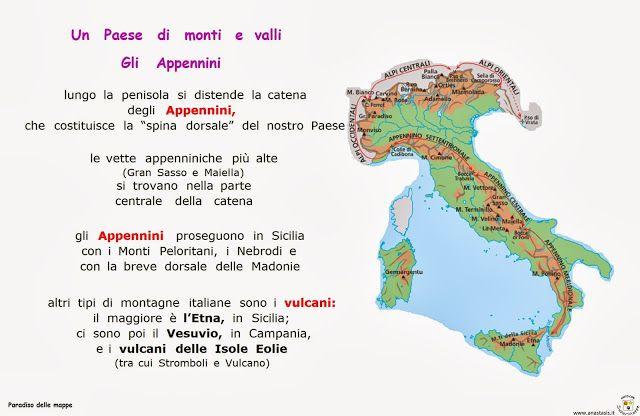 Cartina Dellitalia Alpi E Appennini.Paradiso Delle Mappe Geografia 4 Attivita Geografia Geografia Bambini Geografia