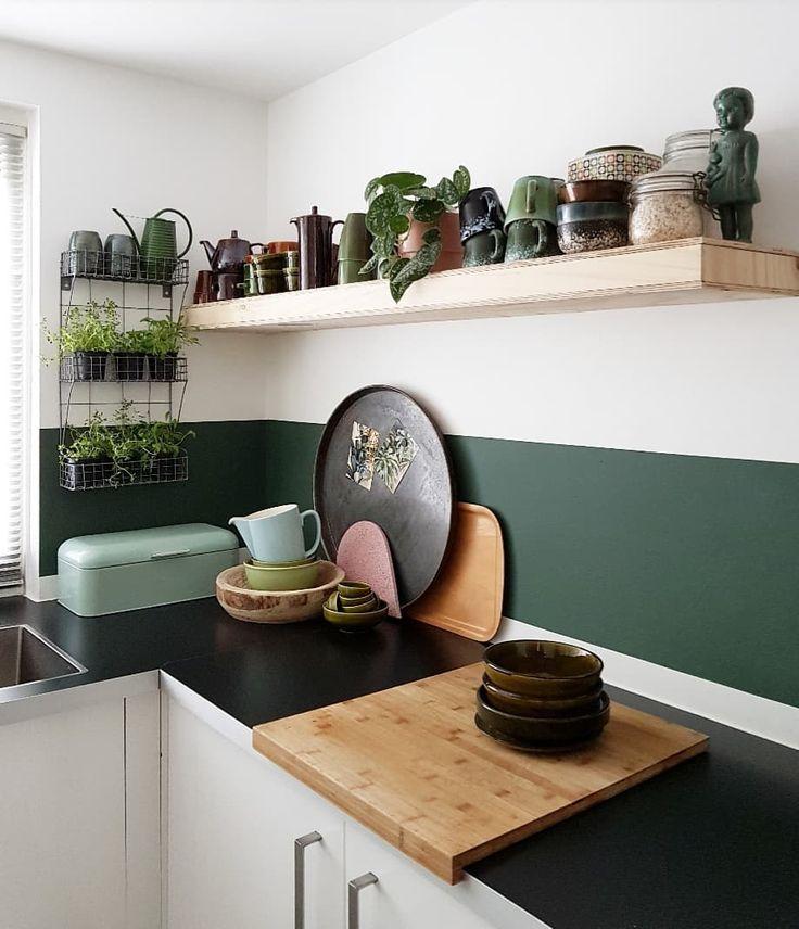 Tolle Grüne Wand In Der Küche!
