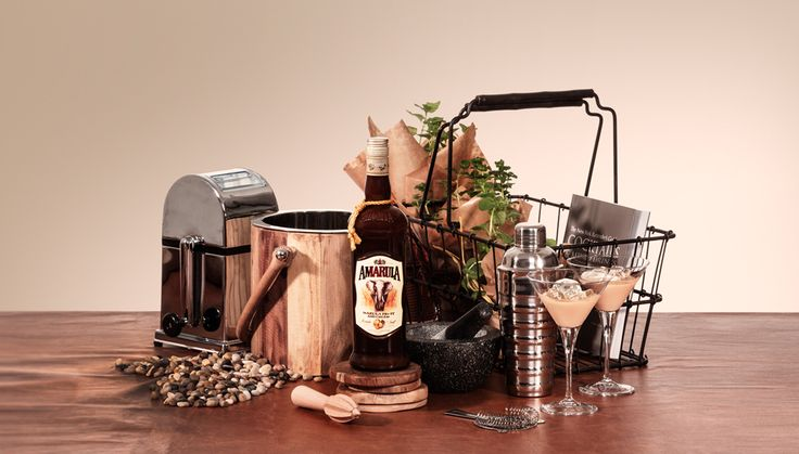 The Sunset Cocktail Basket - A bottle of Amarula Cream and all the tools and finishing touches to shake up decadent cocktails is a great gift for anyone who loves to entertain. For Amarula cocktails, visit our cocktail board. Visit http://www.amarula.com/gifts#/gifts for the complete list of gift elements.