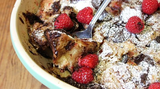 Organic Valley Decadent Chocolate Bread Pudding Recipe